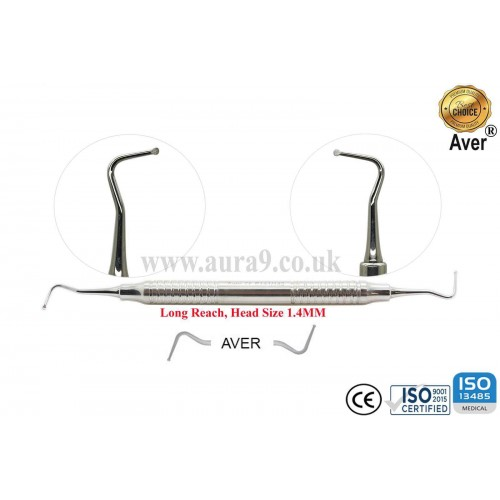 Dental Excavator 141/142, Head size 1.4 mm For Long Reach