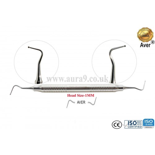 Dental Excavator 145/146, Head size 1 mm for Long Reach