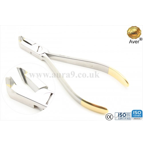 "Orthodontic Plier, Distal End Cutter (Micro) - wire up to a maximum of .021"" x .025"" (.53 mm x .64 mm). Tungsten Carbide"
