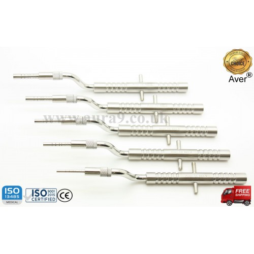 Osteotomes Placement Set, 5 Offset Sinus Osteotomes - AV016