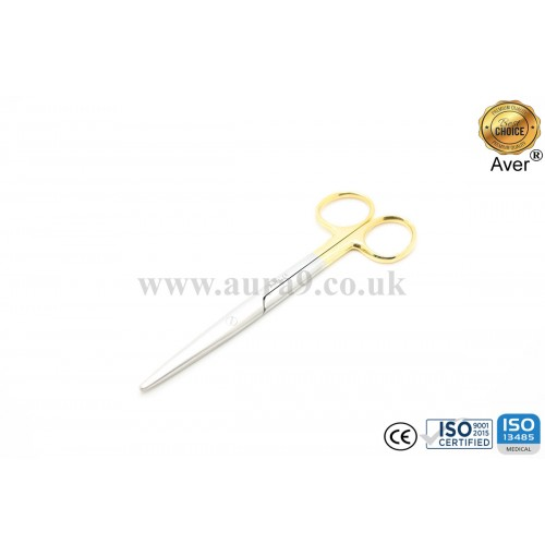 Stainless Steel Scissors Tungsten Carbide Tip, Mayo 14.5 CM Straight