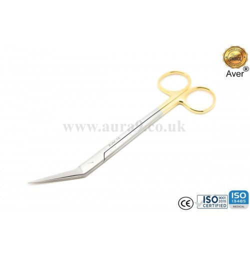 Stainless Steel Scissors Tungsten Carbide Tip, Locklin 16.5 CM Fig. 1. Straight