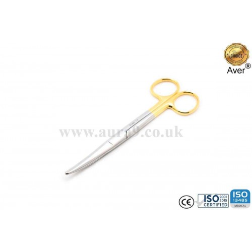Stainless Steel Scissors Tungsten Carbide Tip, Mayo 14.5 CM Curved