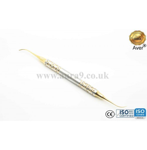 Sinus Lift Instrument, Membrane Elevator, Gold Titanium Coated 5/3 - AV025