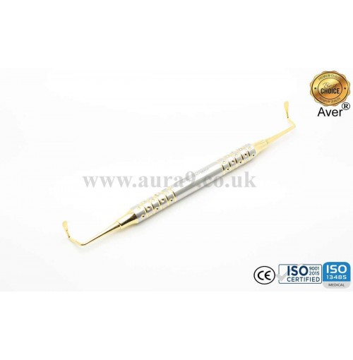 Sinus Lift Instrument, Membrane elevator, Gold Titanium Coated 5/2 - AV024